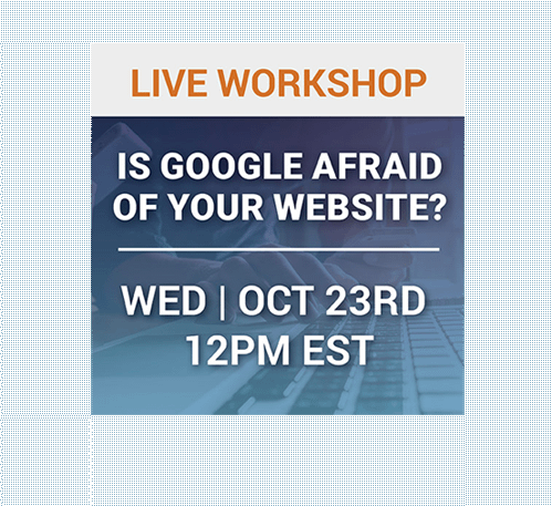 is google afraid of your website?