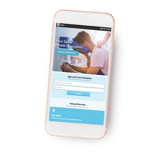 Website Design on Phone