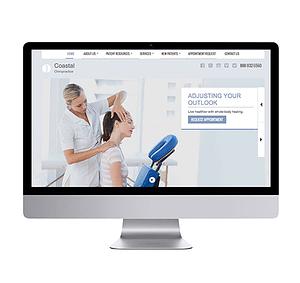 Website Design on Desktop