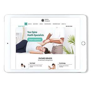 Website Design on Tablet